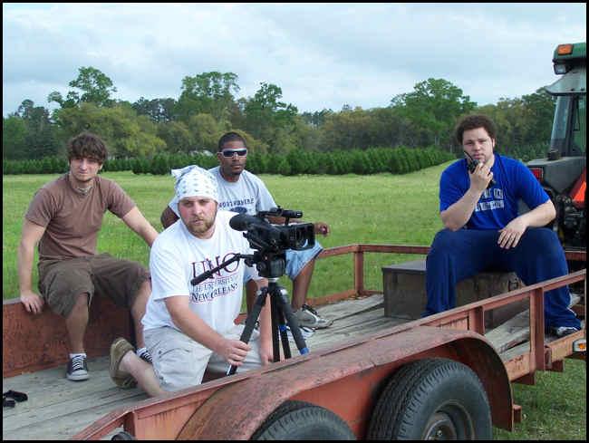 UNO Student Film Makers (Adam Brim in blue shirt).