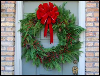 Leyland Cypress Wreath
