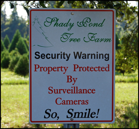 Security Sign at Shady Pond