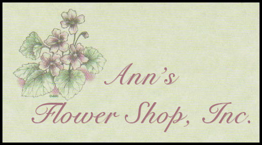 Ann's Flower Shop Logo