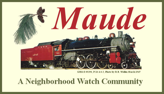 Maude Sign near Shady Pond Tree Farm Entrance