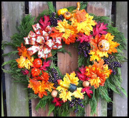 Fall Wreaths at Shady Pond