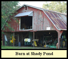 The Hay overloaded the barn at Shady Pond