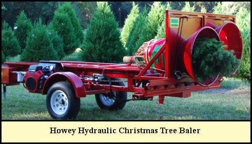Howey Hydraulic Christmas Tree Baler at Shady Pond Tree Farm
