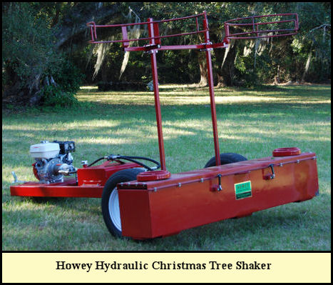 Howey Hydraulic Christmas Tree Shaker at Shady Pond Tree Farm