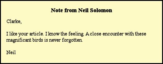 Neil Solomon's thoughts on the encounter.