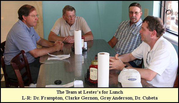 DR Leyland Project Team at Lester's having Lunch.